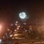 Feuerwerk zum letzten Läuten von der Cascade aus