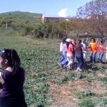 Tanzgruppe die einen armenischen Volkstanz zeigt
